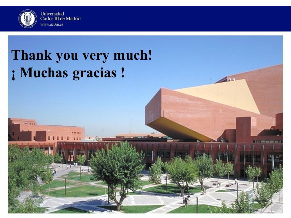Thank you very much! ¡ Muchas gracias !