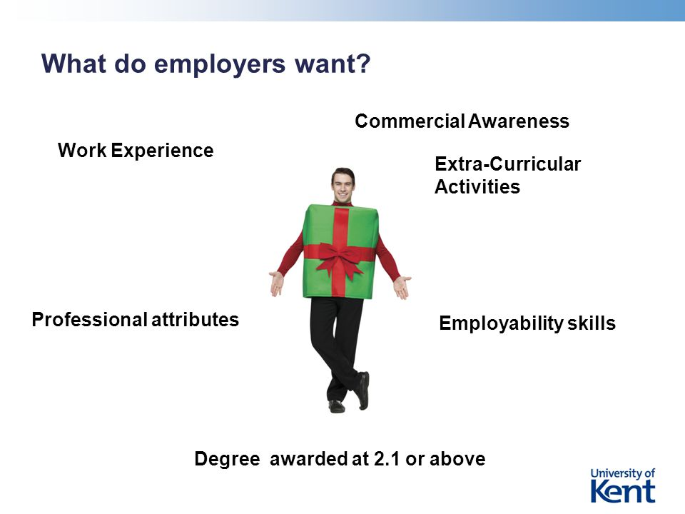 What do employers want.
