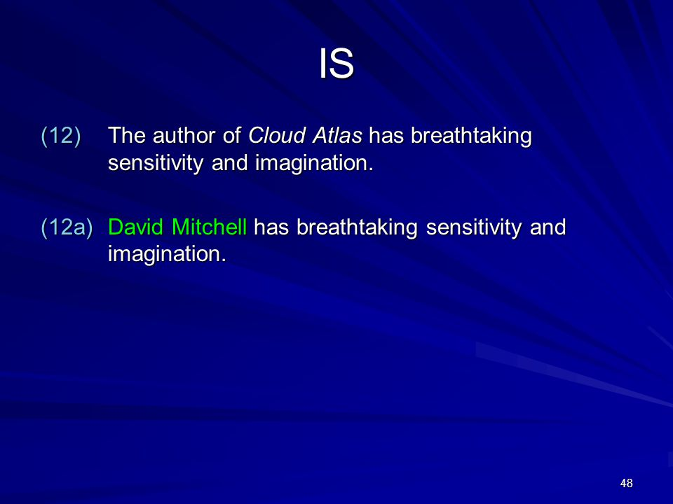 48 IS (12)The author of Cloud Atlas has breathtaking sensitivity and imagination.