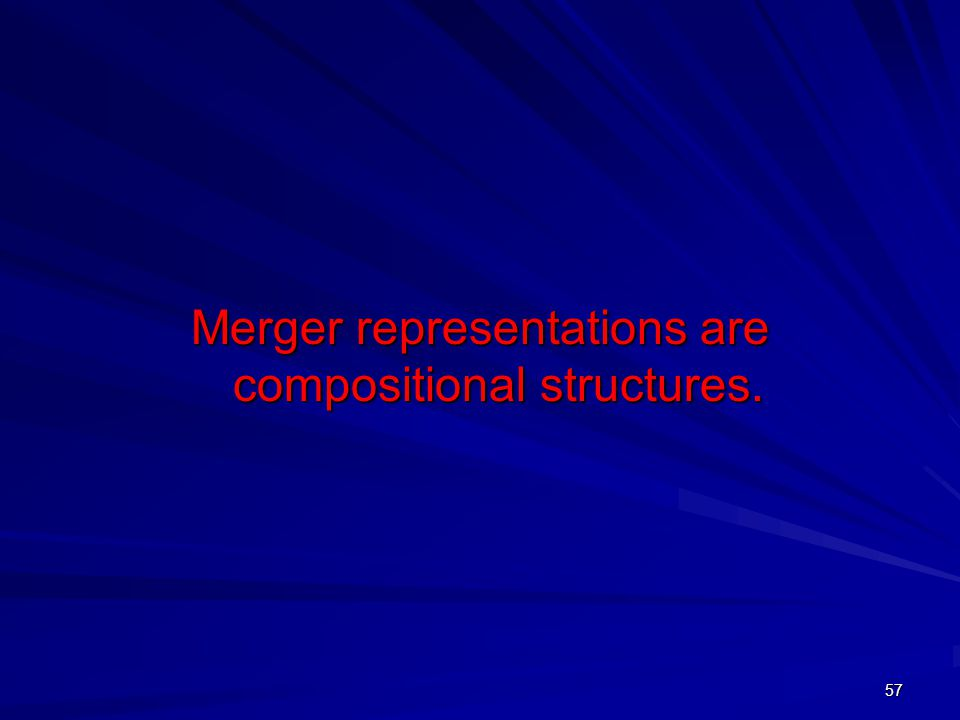 57 Merger representations are compositional structures.