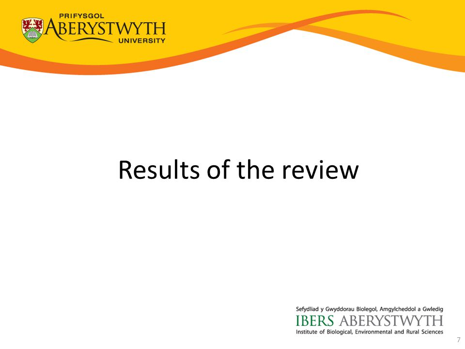 Results of the review 7
