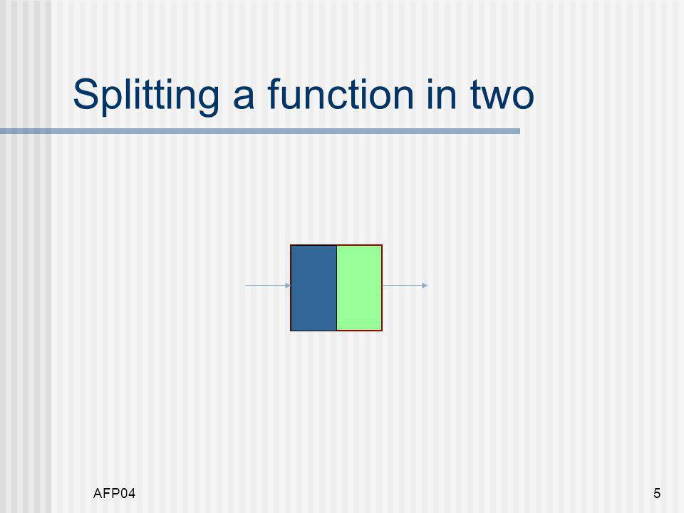 AFP045 Splitting a function in two