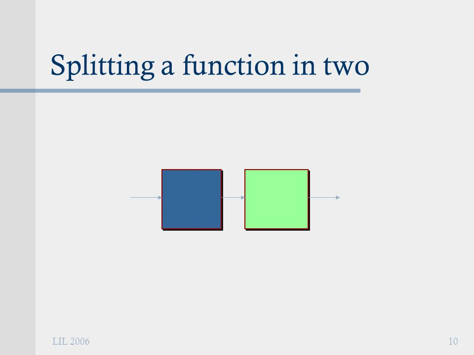 LIL 200610 Splitting a function in two