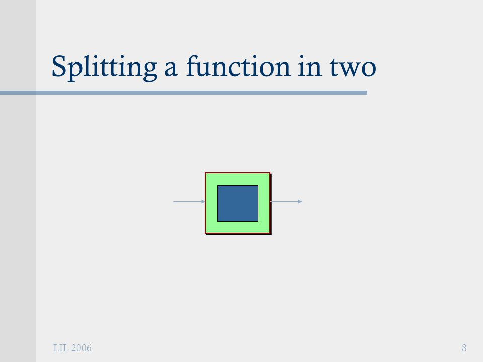 LIL 20068 Splitting a function in two