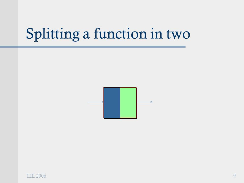 LIL 20069 Splitting a function in two