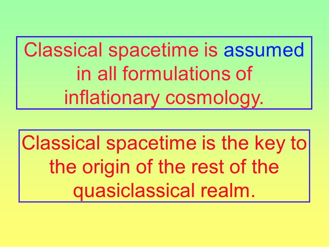 Classical spacetime is assumed in all formulations of inflationary cosmology.