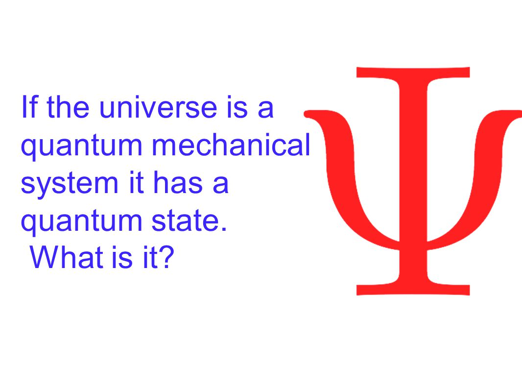 If the universe is a quantum mechanical system it has a quantum state. What is it