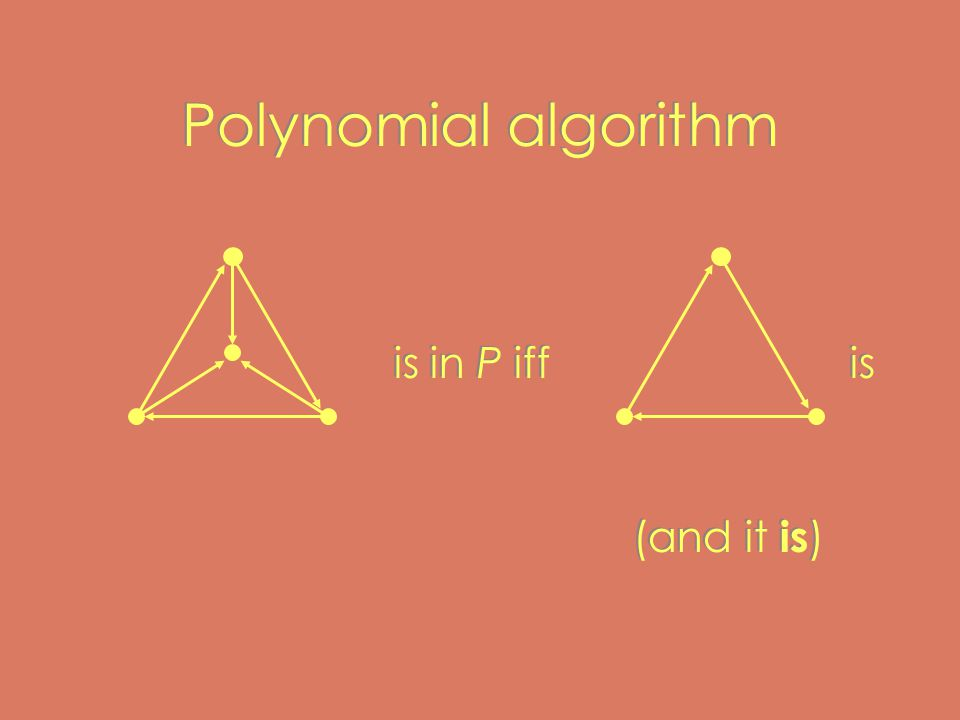 Polynomial algorithm is in P iffis (and it is ) is in P iffis (and it is )
