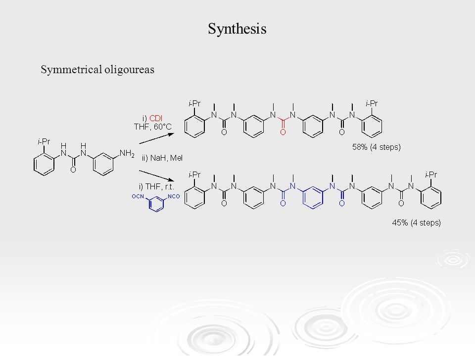 Synthesis Symmetrical oligoureas