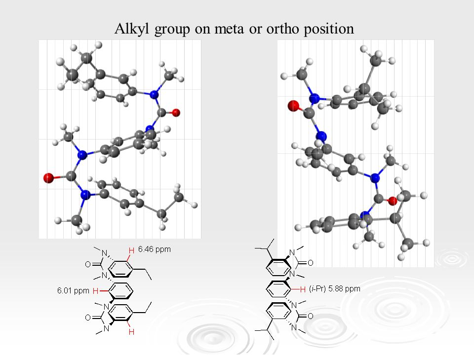 Alkyl group on meta or ortho position