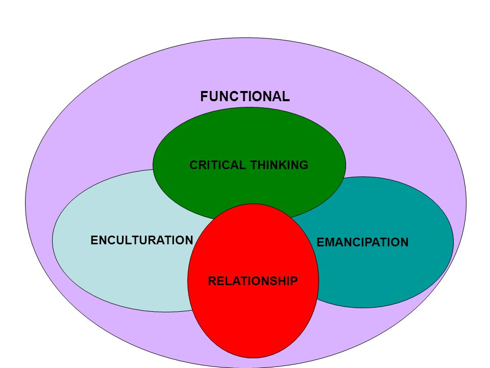FUNCTIONAL ENCULTURATION EMANCIPATION CRITICAL THINKING RELATIONSHIP