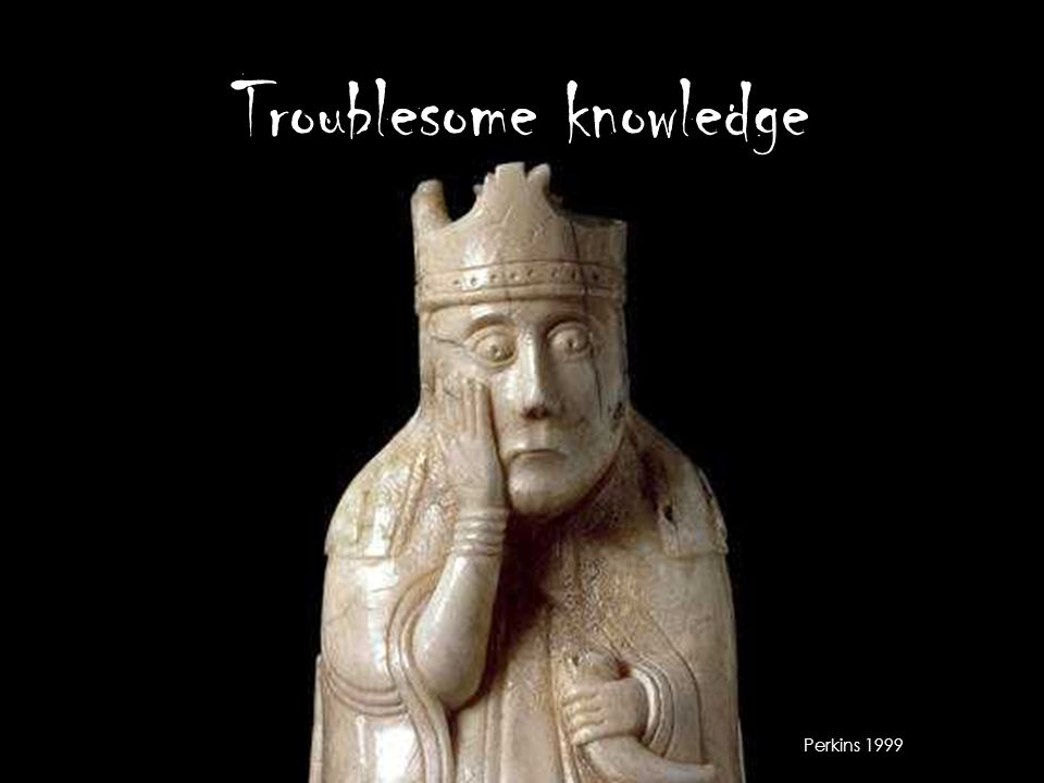 Troublesome knowledge Perkins 1999