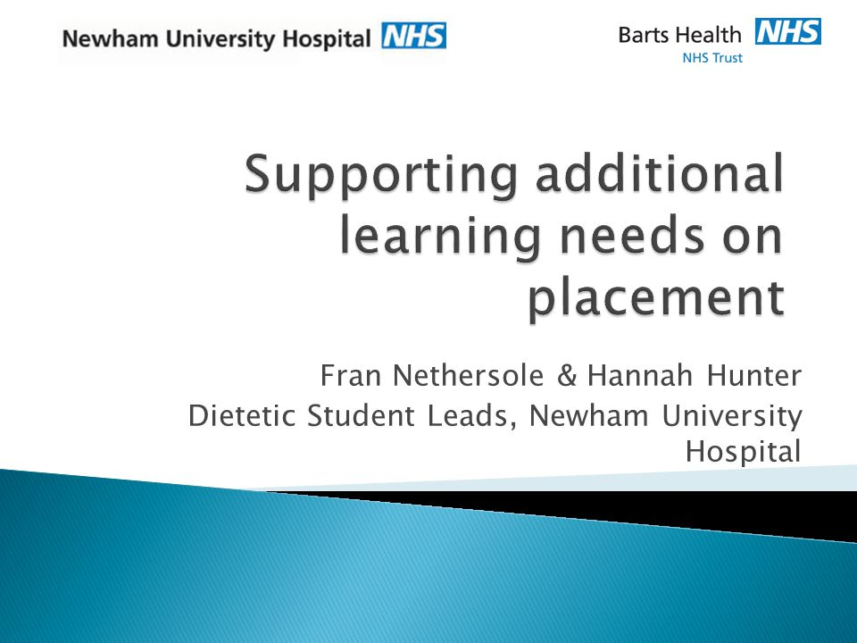 Fran Nethersole & Hannah Hunter Dietetic Student Leads, Newham University Hospital