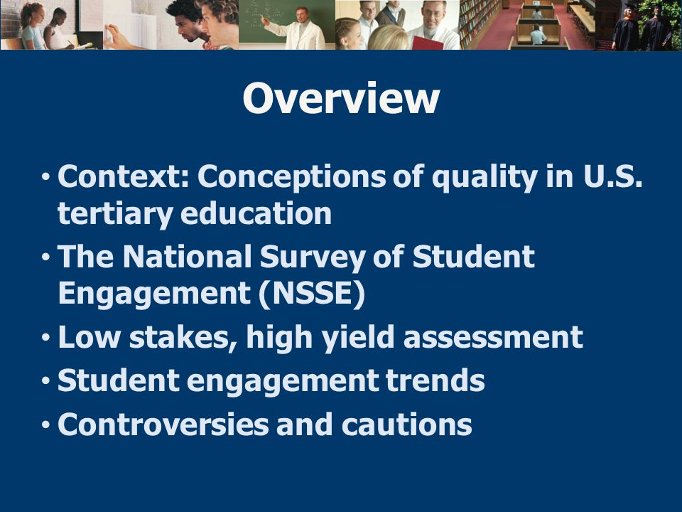 Context: Conceptions of quality in U.S.