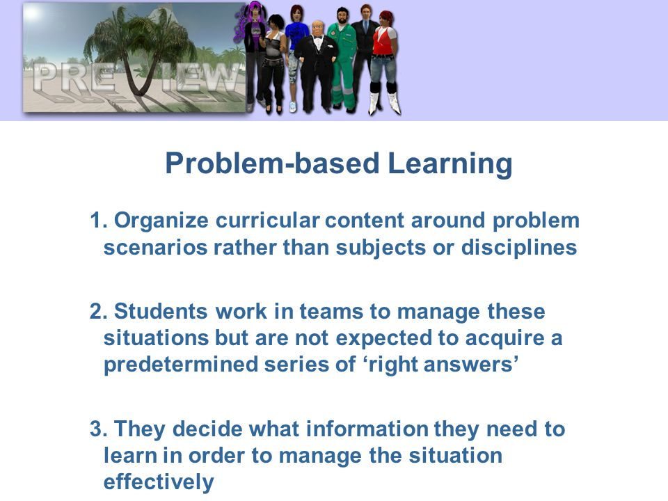Problem-based Learning 1.