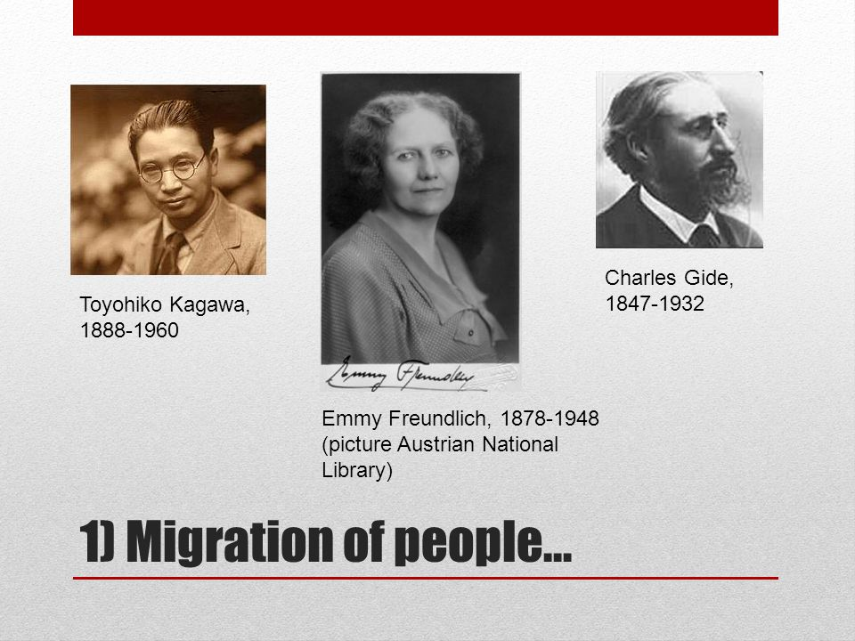 1) Migration of people...