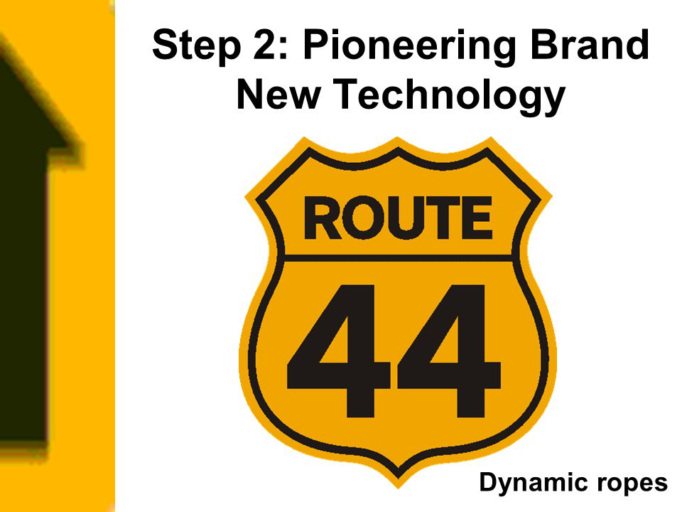 Step 2: Pioneering Brand New Technology Dynamic ropes
