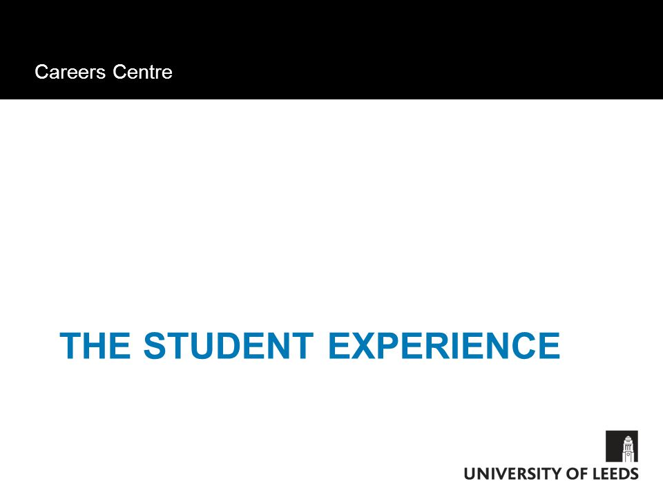 Careers Centre THE STUDENT EXPERIENCE