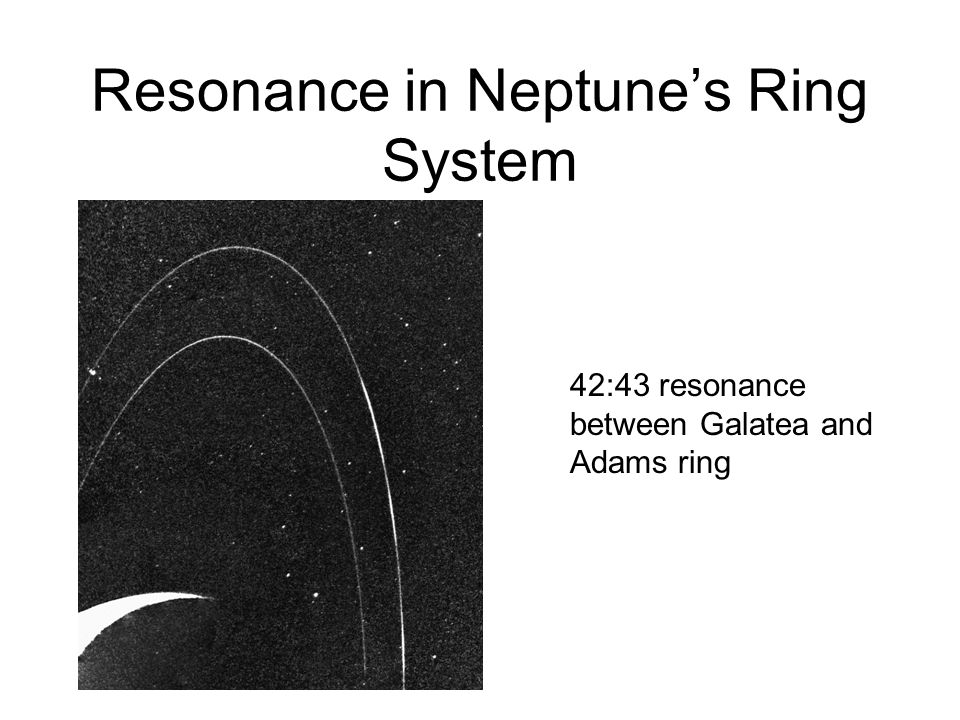 Resonance in Neptune's Ring System 42:43 resonance between Galatea and Adams ring