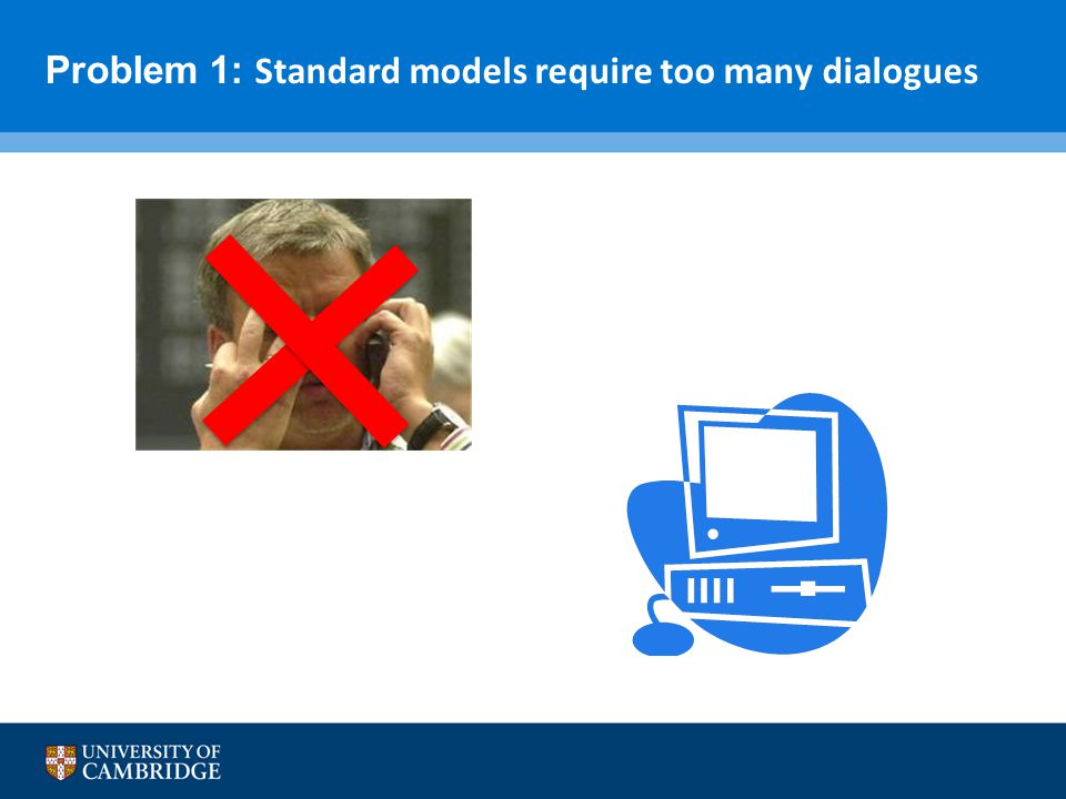 Problem 1: Standard models require too many dialogues
