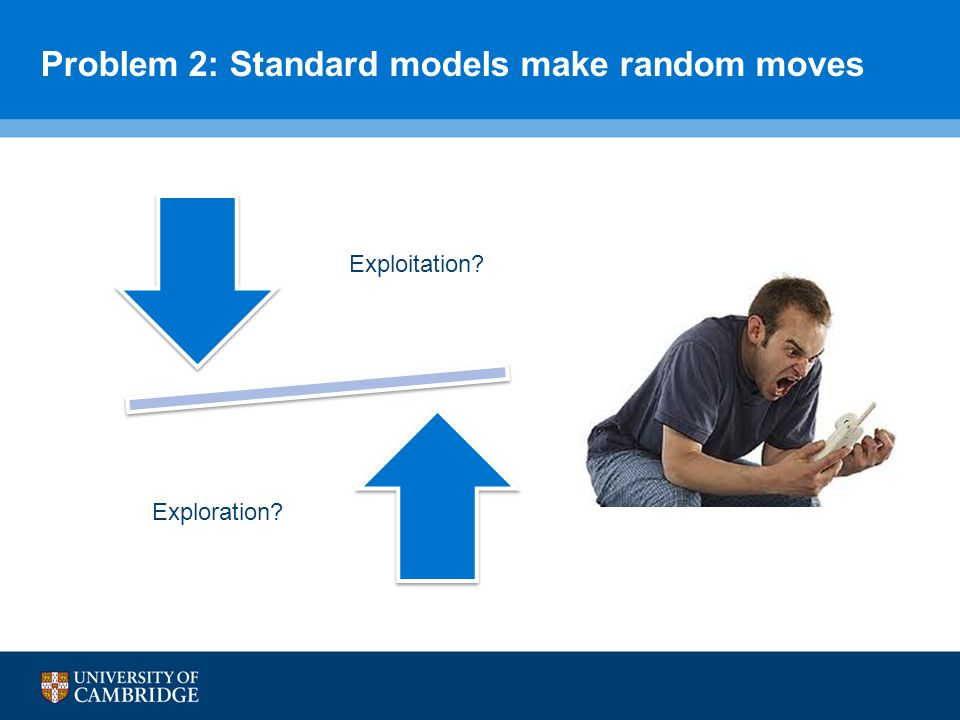 Problem 2: Standard models make random moves Exploitation Exploration