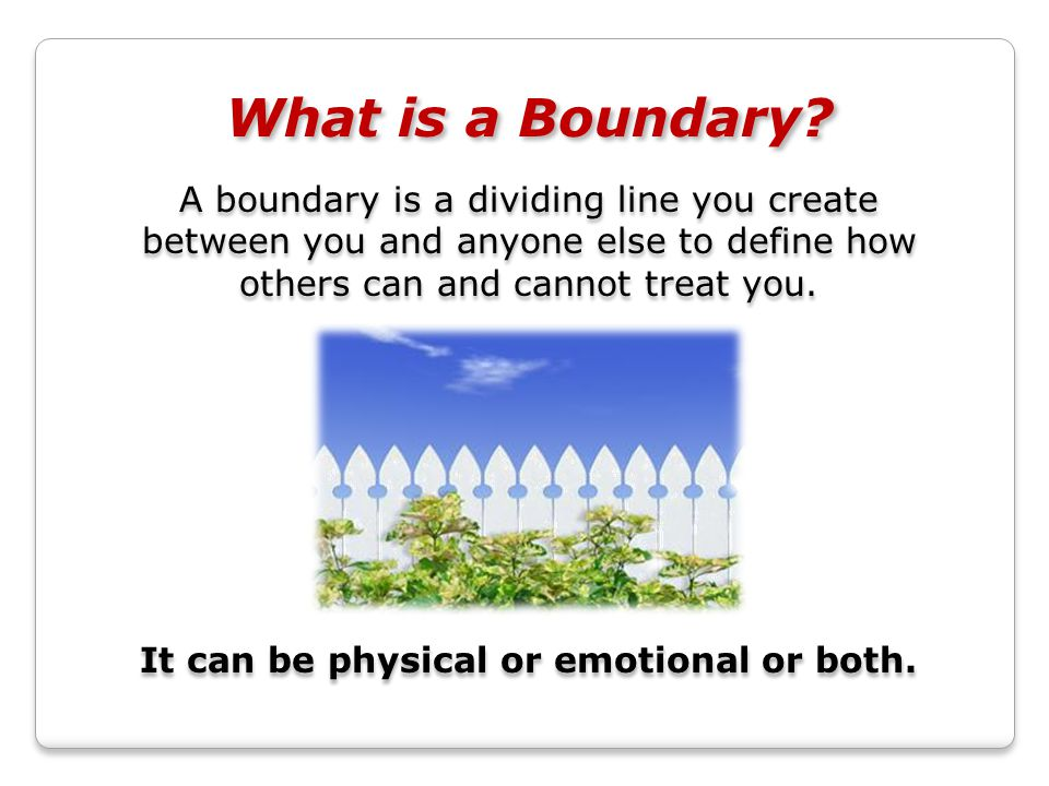 What is a Boundary.