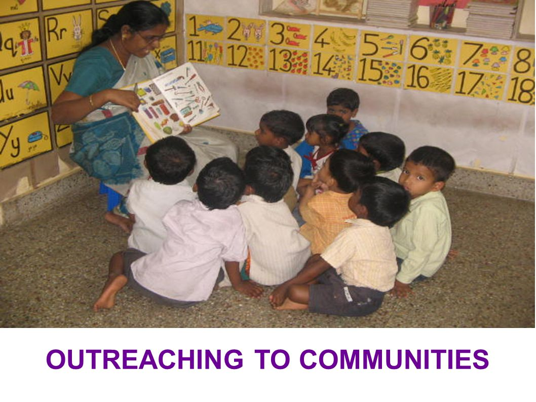 OUTREACHING TO COMMUNITIES