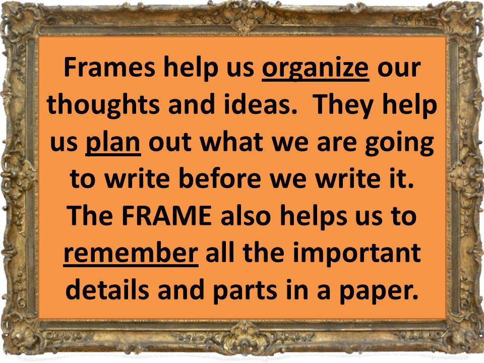 What is a FRAME?! a basic structure that underlies or supports a ...