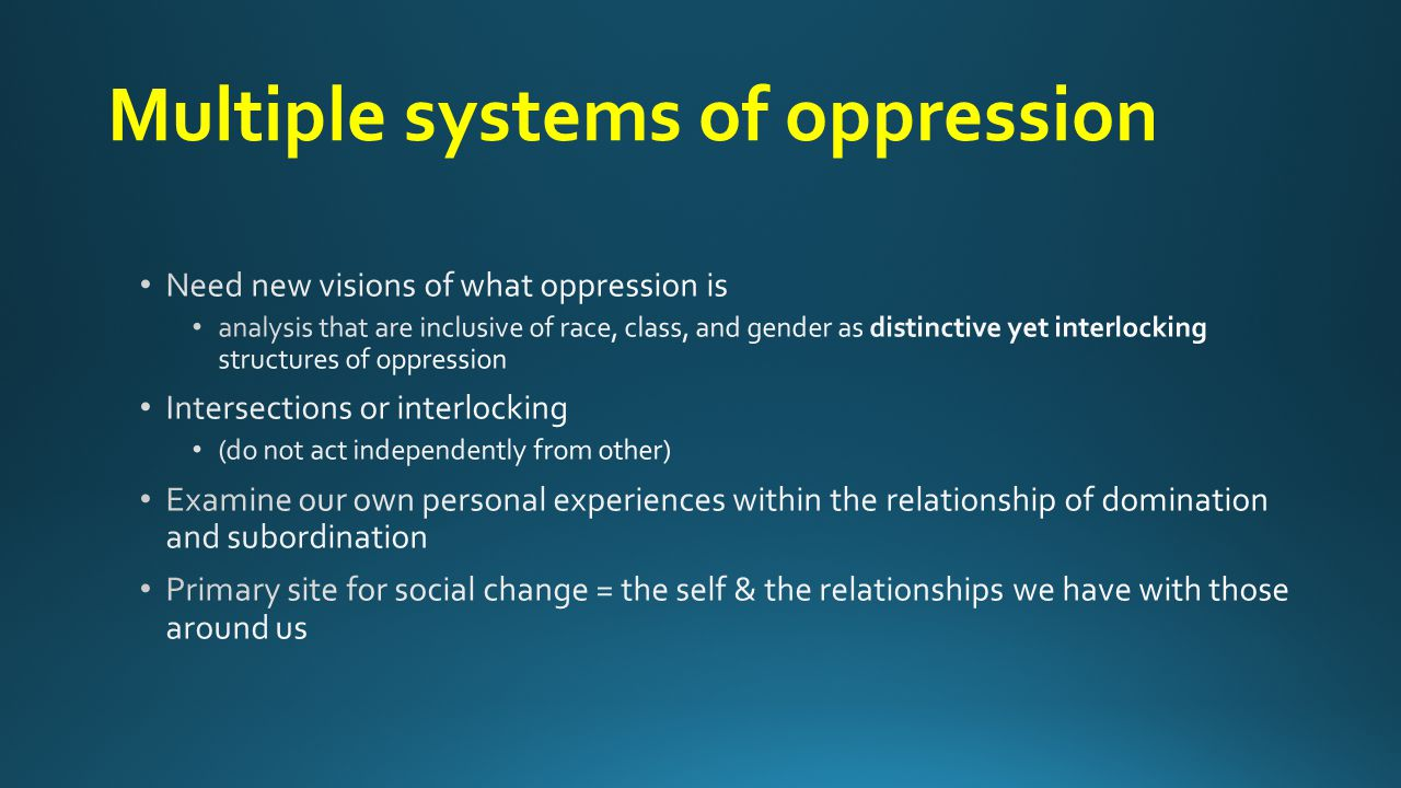 Multiple systems of oppression