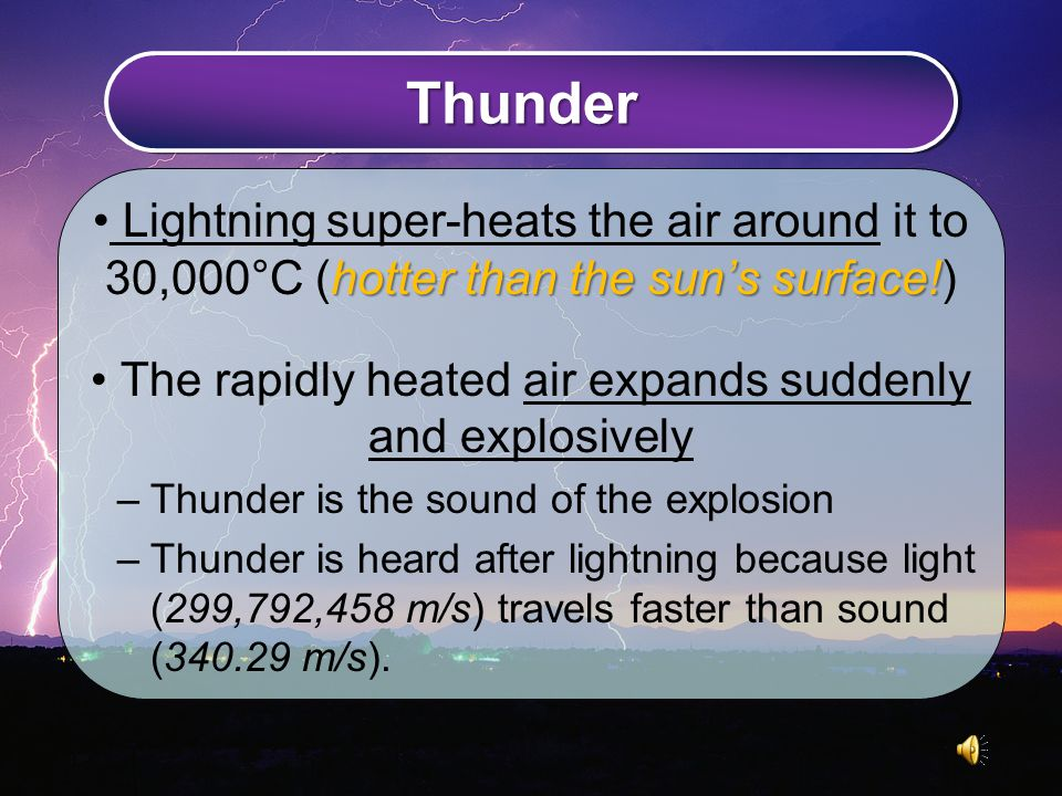 Thunder hotter than the sun's surface.