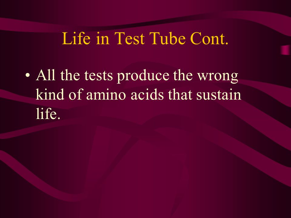 Life in a Test Tube. A little science estranges a man from God.