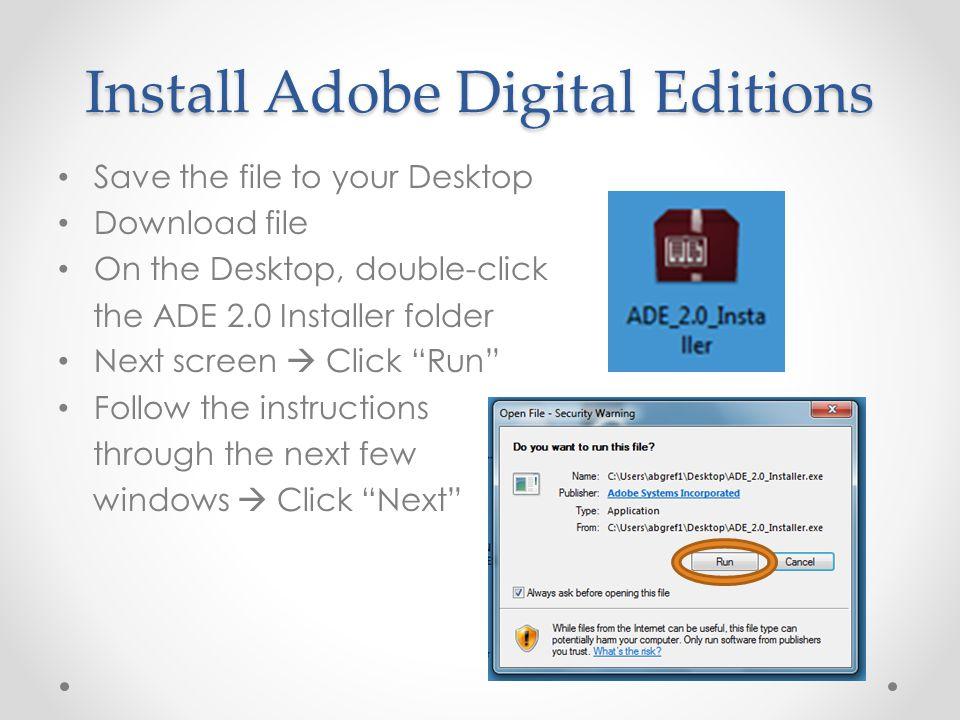 adobe digital editions download 2.0