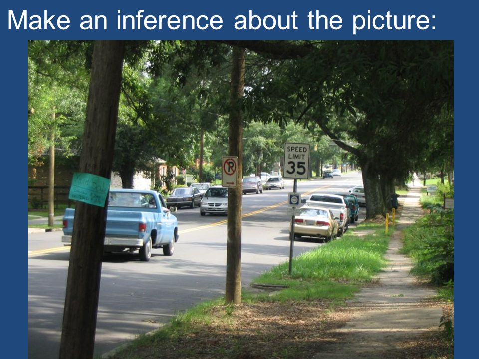 Make an inference about the picture: