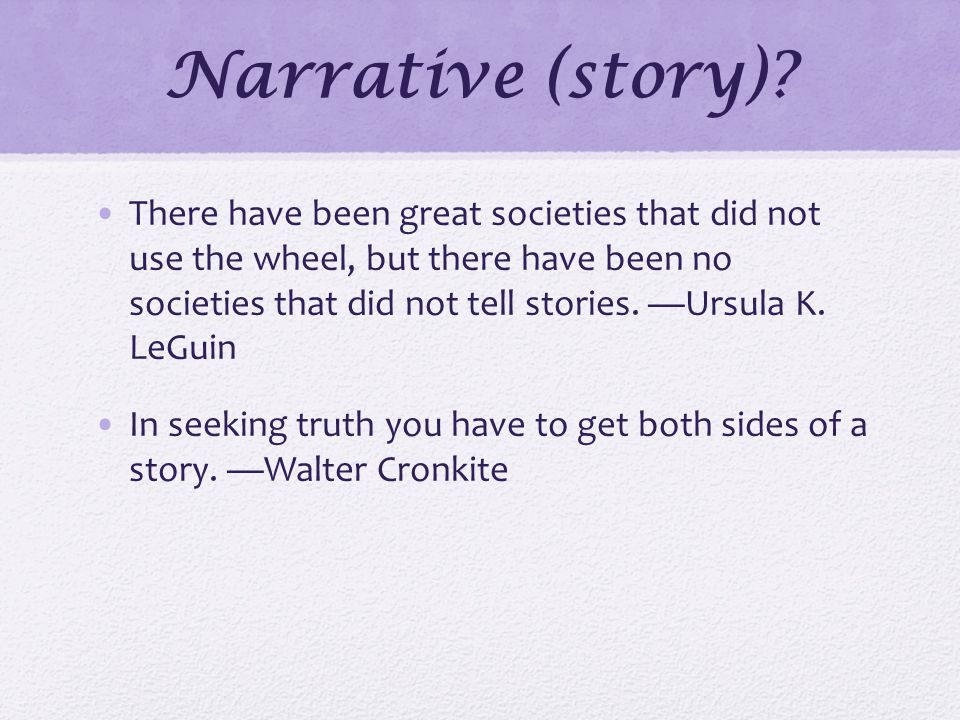Narrative (story).