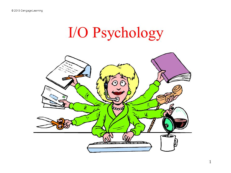 © 2013 Cengage Learning 1 I/O Psychology