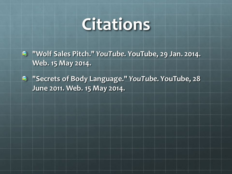 Citations Wolf Sales Pitch. YouTube. YouTube, 29 Jan.