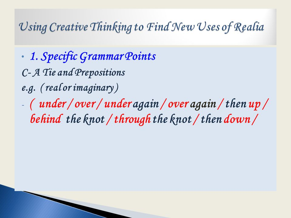 1. Specific Grammar Points B- A Pencil Sharpener and Reduced Relative Clauses e.g.