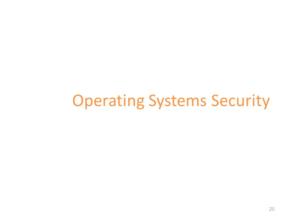 Operating Systems Security 20
