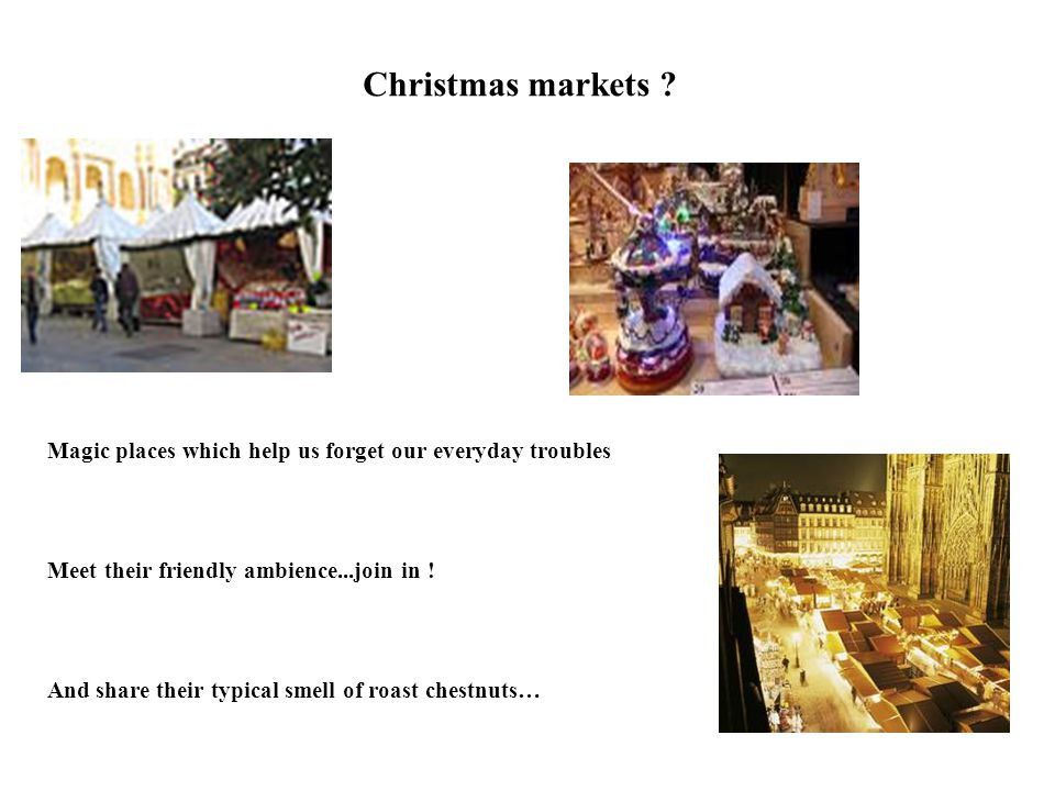 Christmas markets .