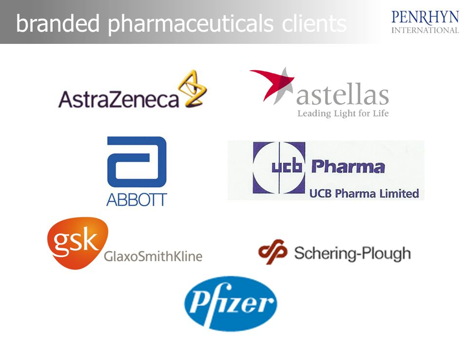 branded pharmaceuticals clients