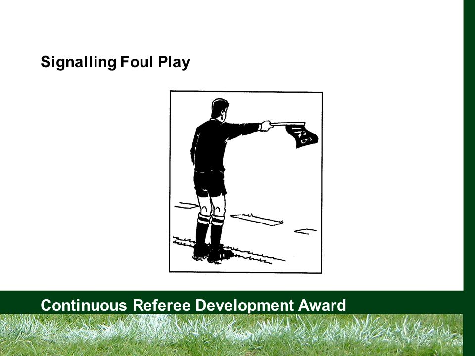 Continuous Referee Development Award Signalling Foul Play