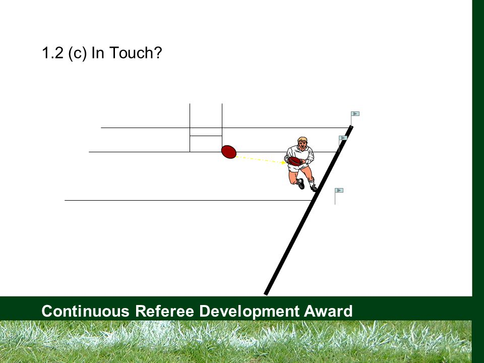 Continuous Referee Development Award 1.2 (c) In Touch