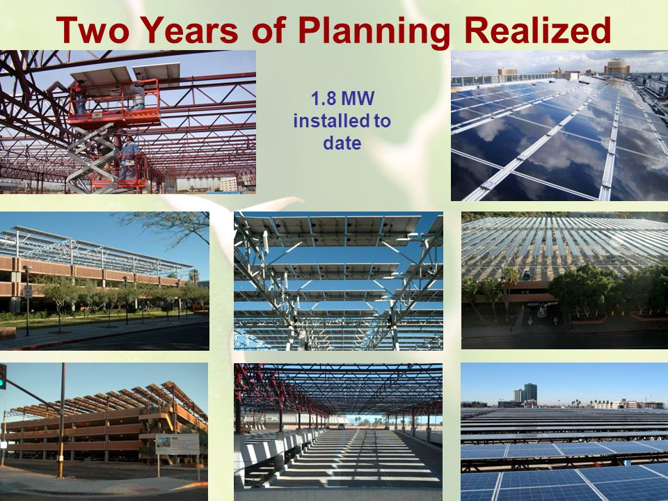 Two Years of Planning Realized 1.8 MW installed to date