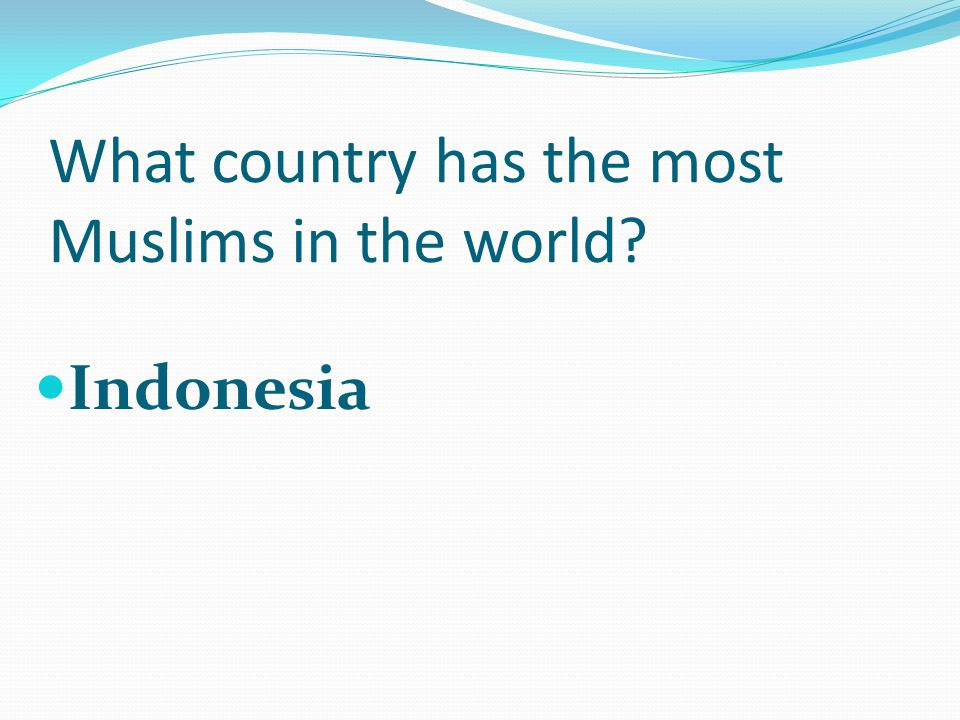 What country has the most Muslims in the world Indonesia