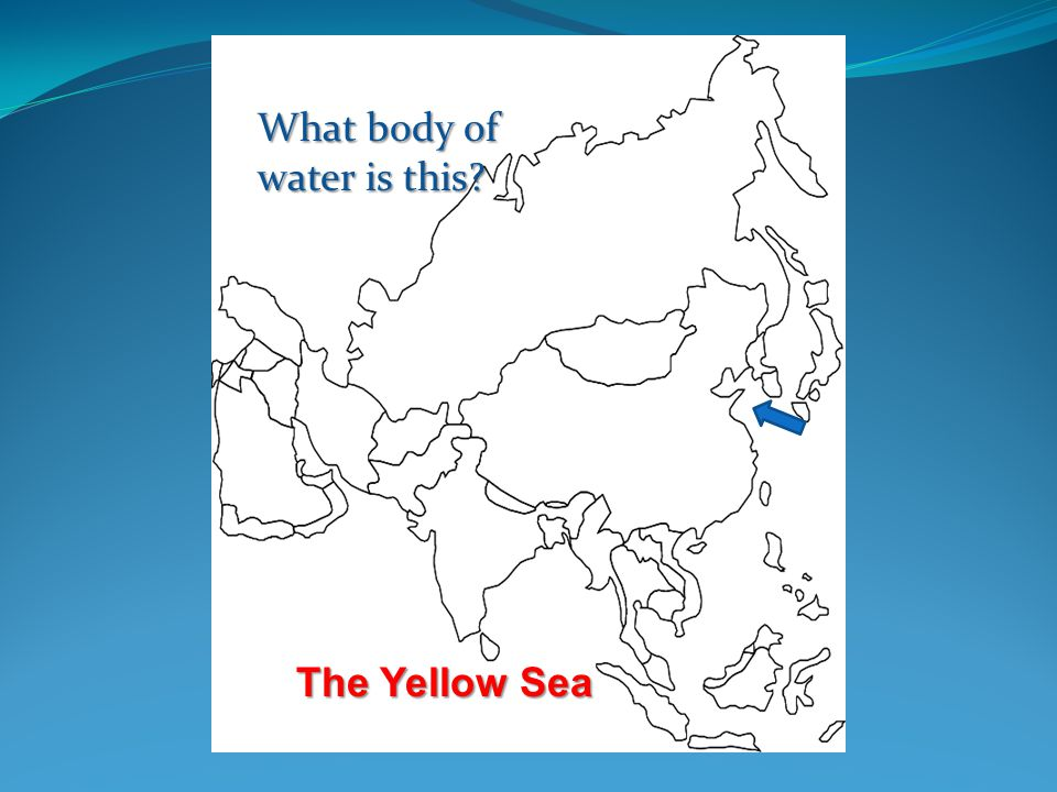 ©abcteach Japan and Asia Japanabcteach Japan What body of water is this The Yellow Sea