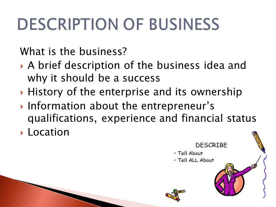 What is the business.