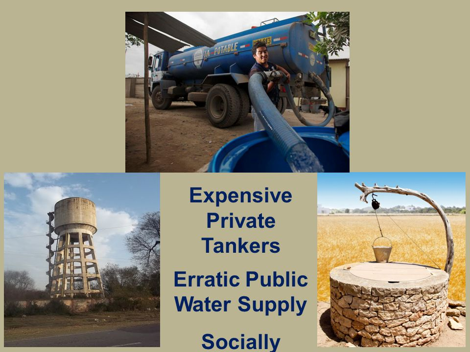 Expensive Private Tankers Erratic Public Water Supply Socially Inaccessible Wells
