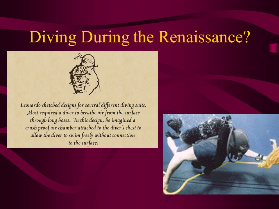 Diving During the Renaissance