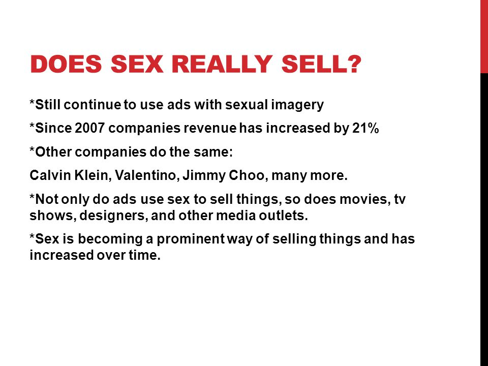DOES SEX REALLY SELL.