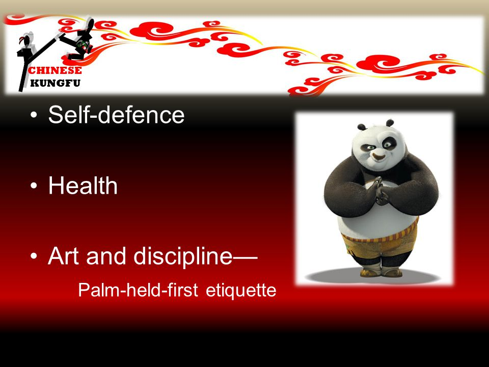 CHINESE KUNGFU Self-defence Health Art and discipline— Palm-held-first etiquette